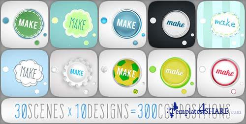 Rounded Typo Story - After Effects Project (Videohive)