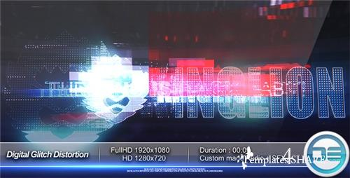 Digital Glitch Distortion Logo Reveal - After Effects Project (Videohive)