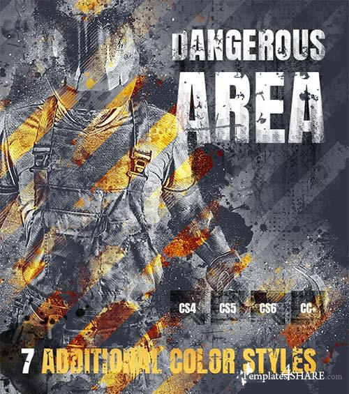 GraphicRiver Dangerous Area Photoshop Action