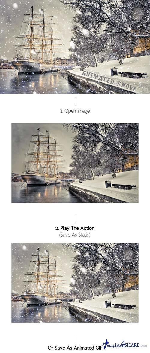 GraphicRiver Gif Animated Snow Photoshop Action