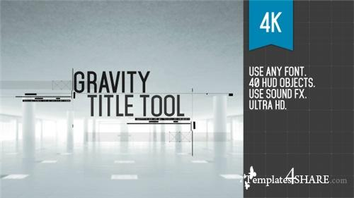 Gravity Title Tool - After Effects Project (Videohive)