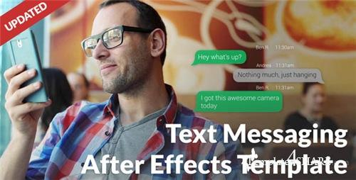 Text Message with Photo and Video Options - After Effects Project (Videohive)