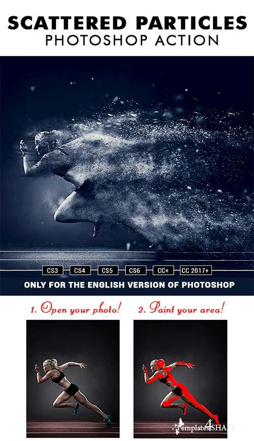 GraphicRiver Scattered Particles Photoshop Action