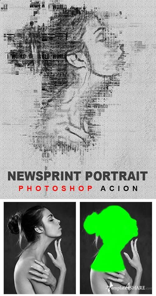 GraphicRiver News Print Photoshop Action