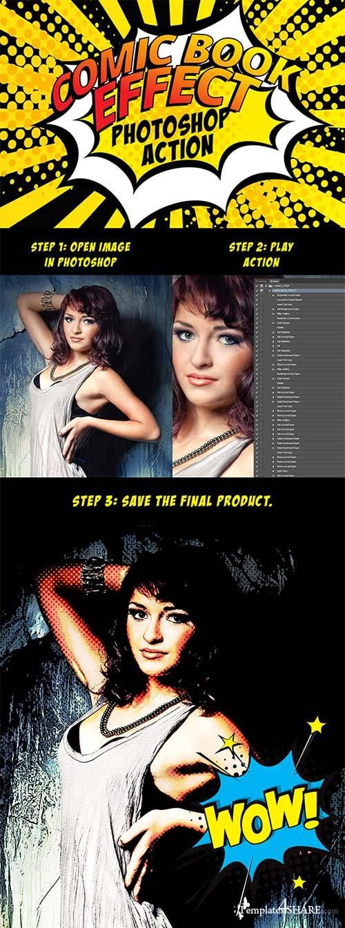 GraphicRiver Universal Comic Book Effect Photoshop Action