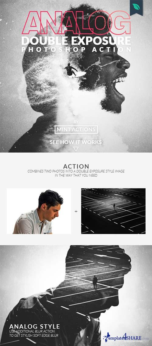 GraphicRiver Analog Double Exposure Photoshop Action