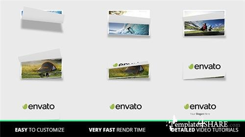 Page Flip Logo - After Effects Project (Videohive)