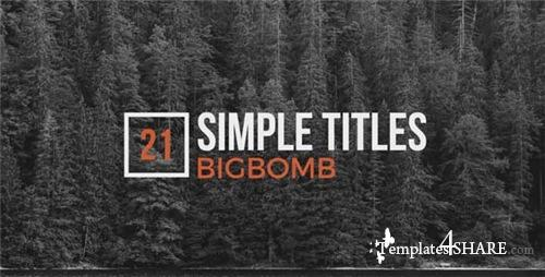Simple Titles - After Effects Project (Videohive)