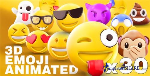 EMOJI 3D animated - After Effects Project (Videohive)