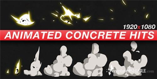 Animated Concrete Hits - Anime Action Essentials - After Effects Motion Graphics (Videohive)