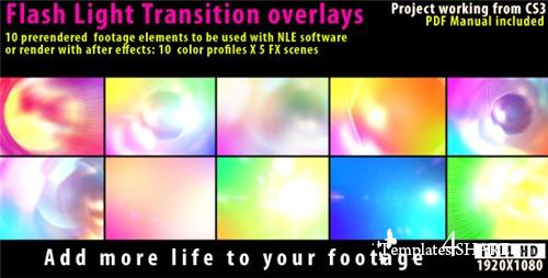 Flash Light Transition Overlay Lense Pack - After Effects Motion Graphics (Videohive)