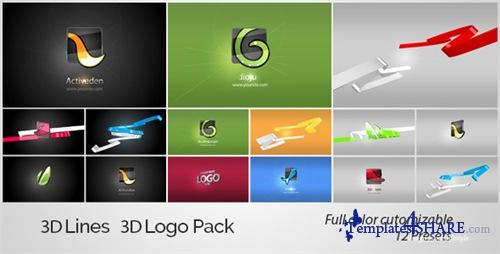 3D Lines 3D Logo Pack - After Effects Project (Videohive)
