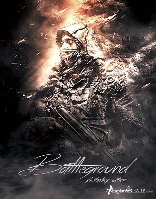 GraphicRiver Battleground - Photoshop Action