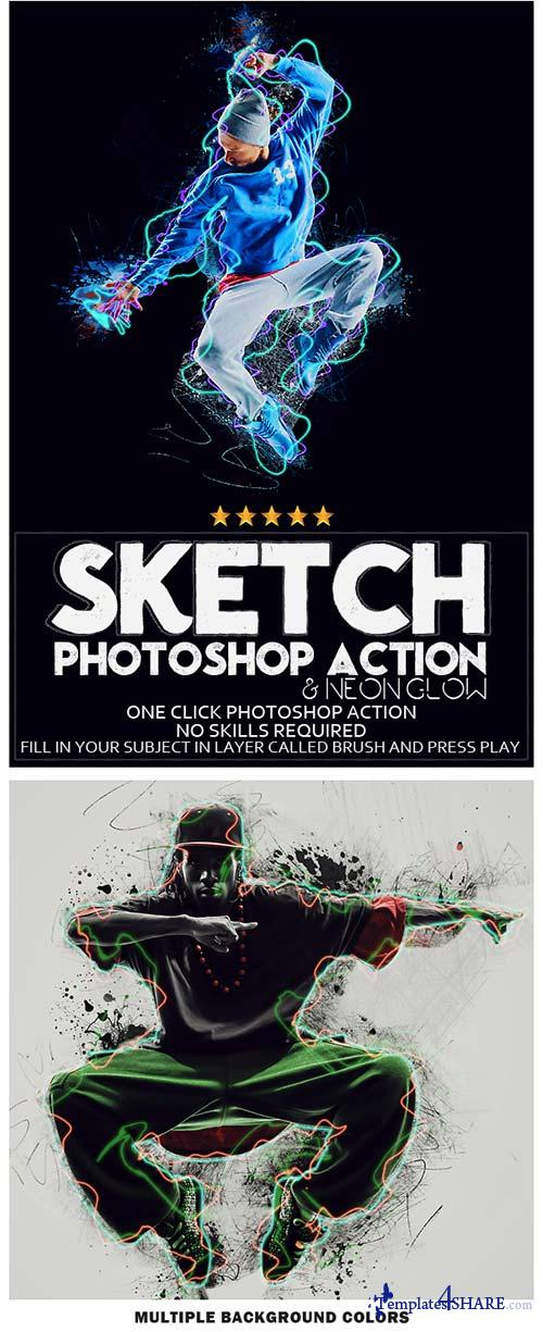 GraphicRiver Sketch Photoshop Action | Photo Effects