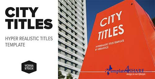City Titles   Realistic Titles Opener - After Effects Project (Videohive)