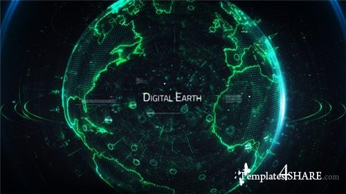 Digital Earth Title - After Effects Project (Videohive)