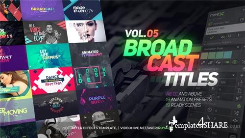 TypeX - Text Animation Tool | VOL.05: Broadcast Titles Pack - After Effects Project (Videohive)