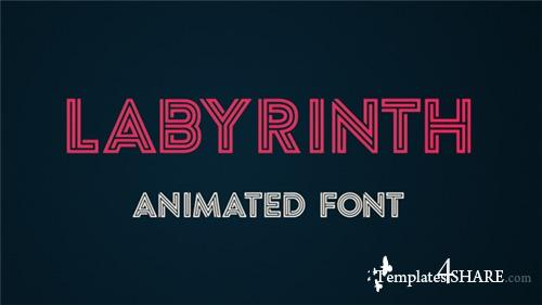Labyrinth Animated Font - After Effects Project (Videohive)