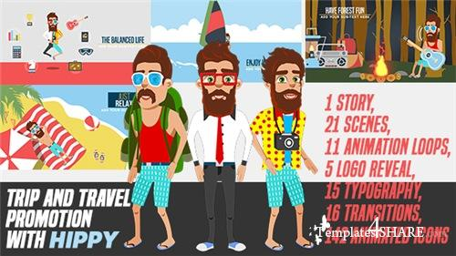 Trip and Travel Promotion with Hippy - After Effects Project (Videohive)