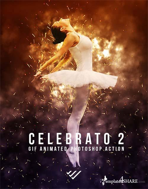 GraphicRiver Gif Animated Celebrato 2 Photoshop Action