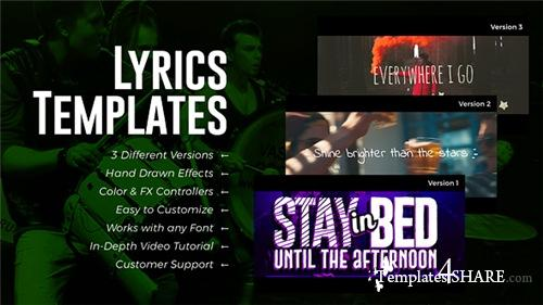 Lyrics Templates (3 Versions) - After Effects Project (Videohive)