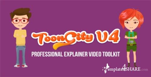 Explainer Video Toolkit | Toon City 4 - After Effects Project (Videohive)