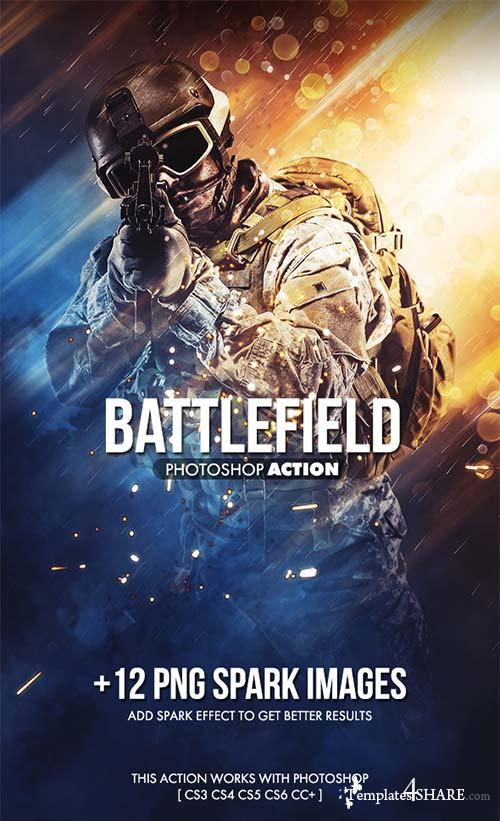 GraphicRiver Battlefield Photoshop Action