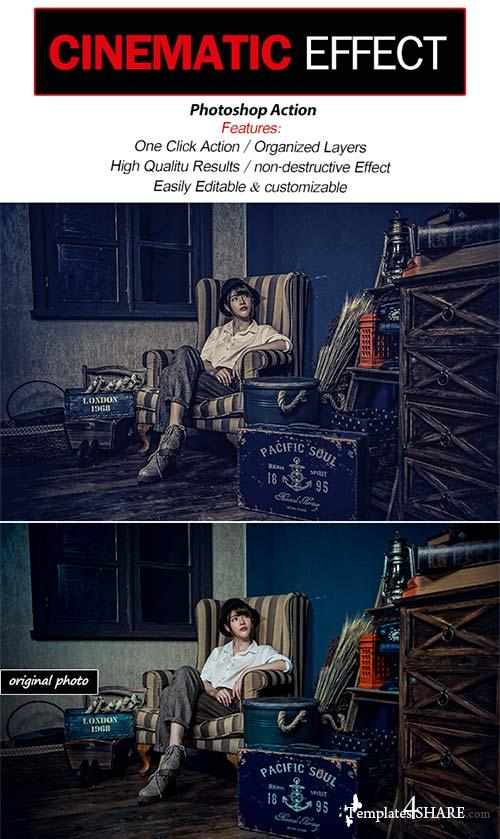 GraphicRiver Cinematic Effect-Photoshop Action