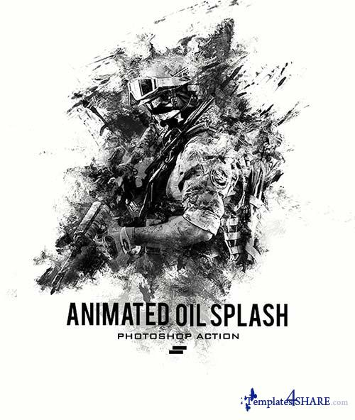 GraphicRiver Gif Animated Oil Splash Photoshop Action