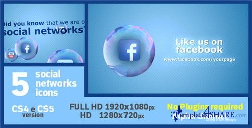 Social Soap Bubble Icon - After Effects Project (Videohive)
