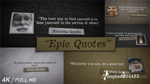 Epic Quotes - After Effects Project (Videohive)