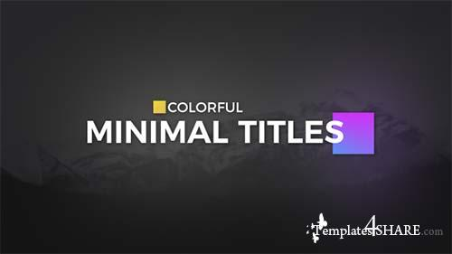 Color full Minimal Titles - After Effects Project (Videohive)