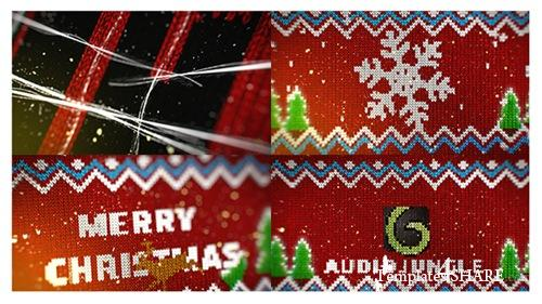 Knitted Christmas Sweater Logo Reveal - After Effects Project (Videohive)