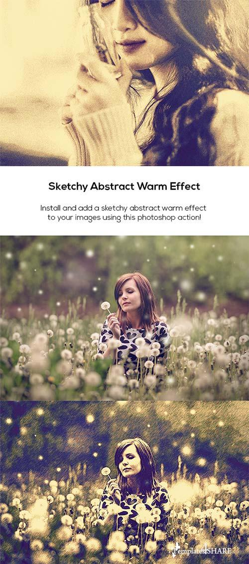 GraphicRiver Sketchy Abstract Warm Effect