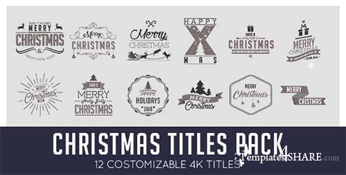 Christmas Titles Pack - After Effects Project (Videohive)