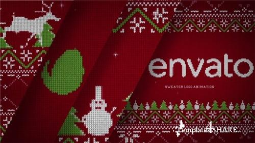 Christmas Sweater Logo - After Effects Project (Videohive)