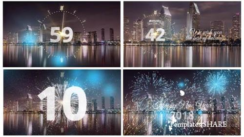 Silver New Year Countdown 2018 - After Effects Project (Videohive)