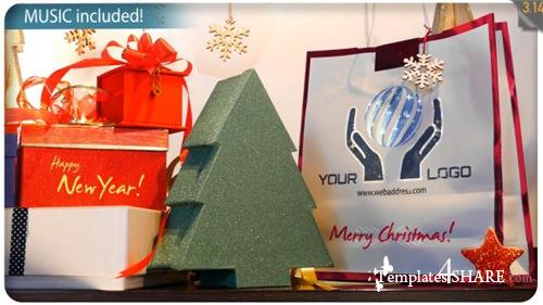Christmas Gifts Logo - Storefront Digital Signage - After Effects Project (Videohive)