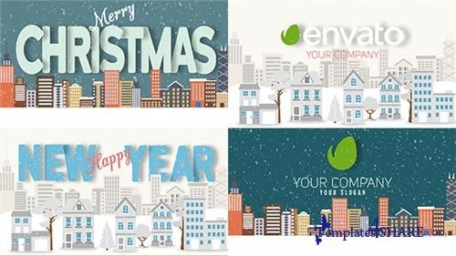 Christmas and New Year Text with Logo Reveal - After Effects Project (Videohive)