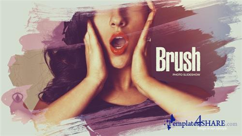 Beautiful Brush Photo Slideshow - After Effects Project (Videohive)
