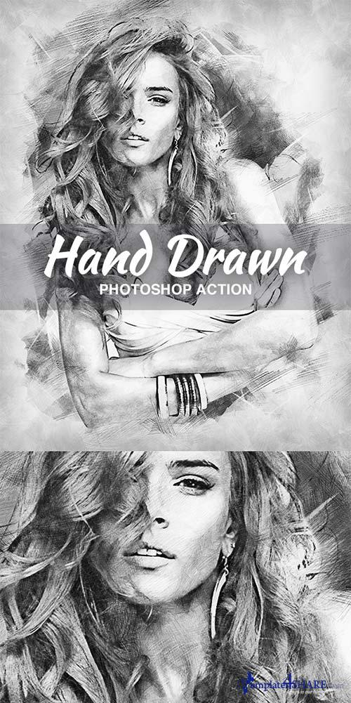 GraphicRiver Hand Drawn Photoshop Action 21151344