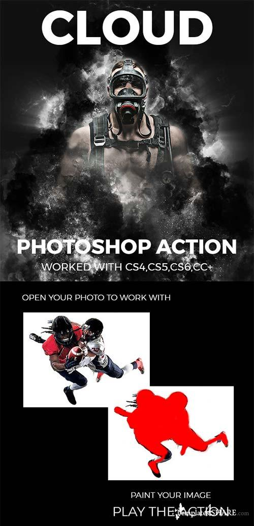 GraphicRiver Cloud Photoshop Action 21140642