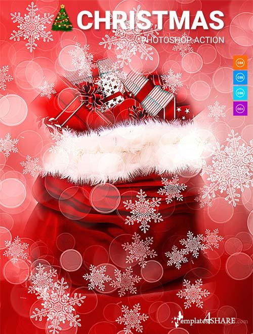 GraphicRiver Christmas Photoshop Action 21137886