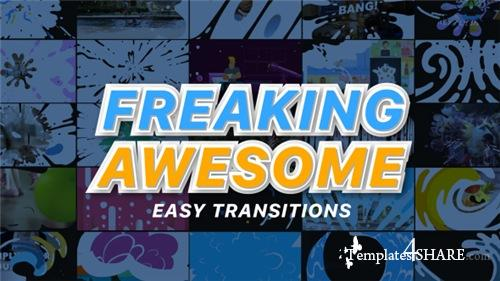 Freaking Awesome Transitions - After Effects Project (Videohive)