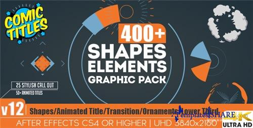Shapes & Elements Graphic Pack - After Effects Project (Videohive)