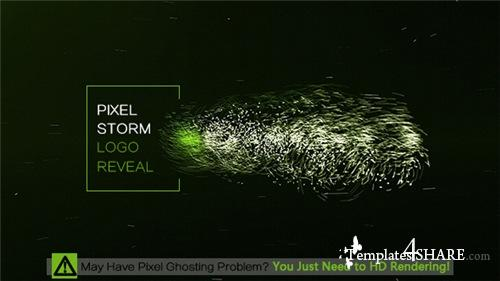 Pixel Storm Logo Reveal - After Effects Project (Videohive)