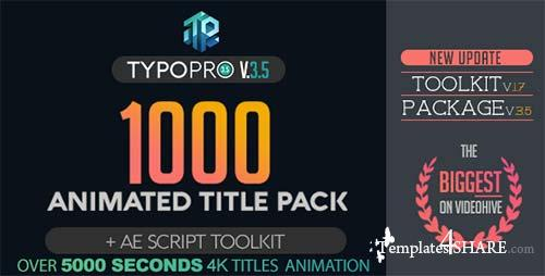 Typopro | Typography Pack - Title Animation - Kinetic - Minimal - Vintage - After Effects Project (Videohive)