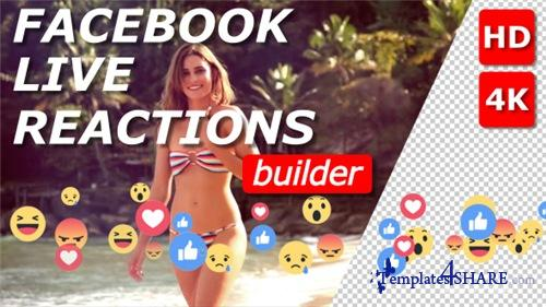 Facebook Live Reactions Builder - After Effects Project (Videohive)