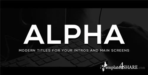 Alpha Titles - After Effects Project (Videohive)