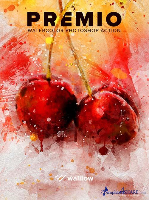 GraphicRiver Premio Watercolor Photoshop Action